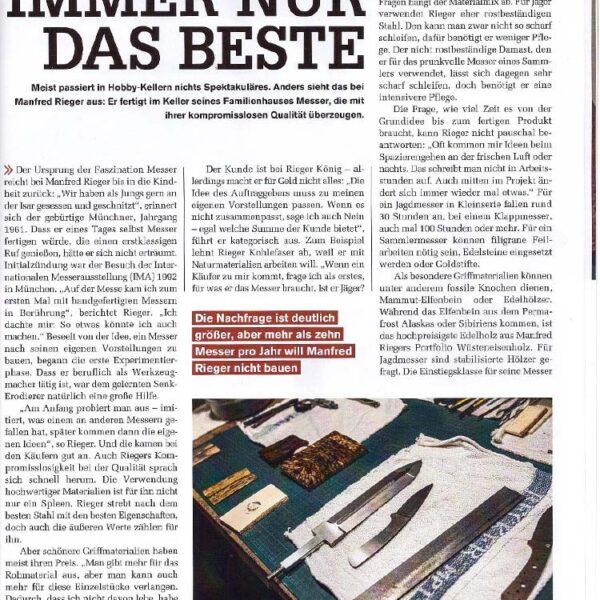 Manfred Rieger - handgemachte Messer aus Petershausen, Lkr. Dachau, im Messer Magazin